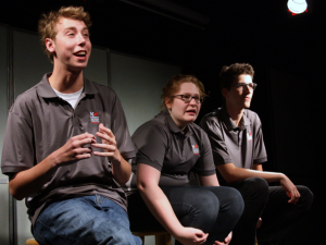 High School Improv League teams learn advanced improv comedy games and techniques in NCT teen improv classes