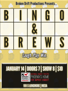 Bingo & Brews - NCT Phoenix Jan 14