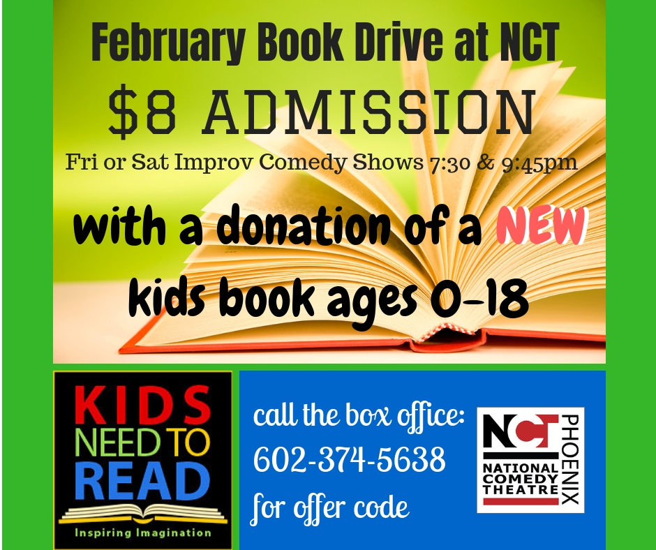 February Book Drive At NCT Improv Comedy Shows